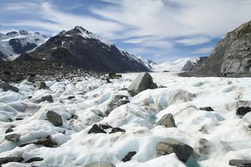 Auf dem Tasman-Gletscher