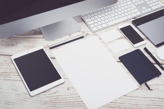 responsive webdesign and stationary mockup