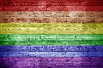Wooden Boards Gay Pride