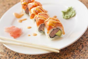 Tuna Salmon Sushi Roll