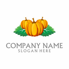 Pumpkin Family Farming Logo Icon