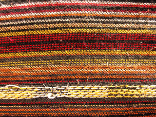 Handmade cotton fabric in northern of thailand