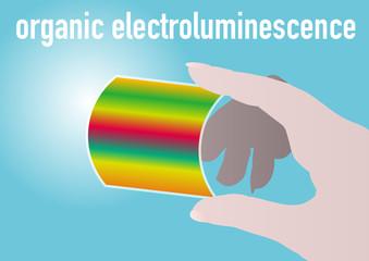 organic electroluminescence, vector illustration