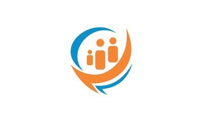 shape people business logo
