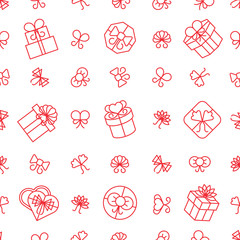 Wall Mural - Gift boxes seamless pattern