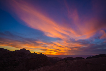 Sunset over ancient Petra