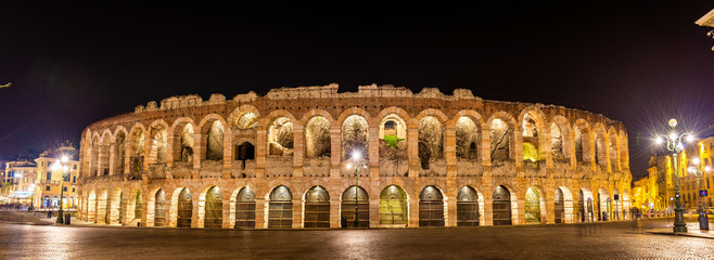 The Arena di Verona at night - Italy Fototapete