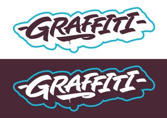 Graffiti lettering vector type font