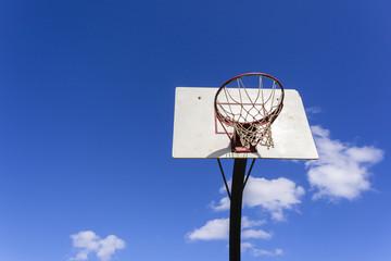 Basketball Board Outside blue sky