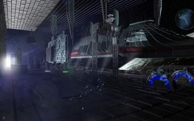 Meine Version eines Frachthafens, indem ein riesiger Raumfrachter erstellt wird.