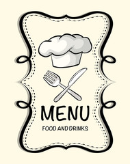Logo design with chef hat
