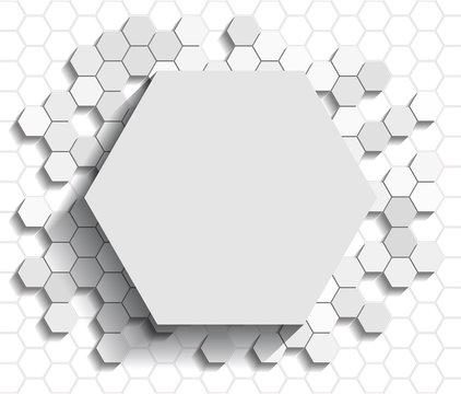 Hexagon flat background