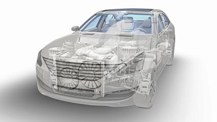Ilustrative Frontansicht eines Autos