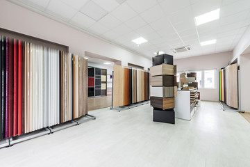 showroom for chipboard panels