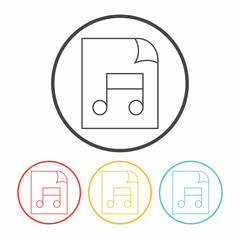 music file line icon