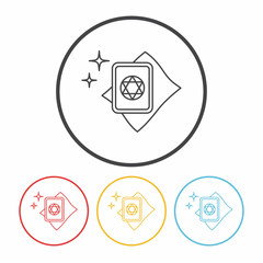 magic card line icon