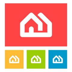 Real estate home house logo icon