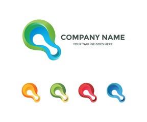 Liquid 3D tech logo advance design