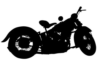 Wall Mural - Motorcyclist in sportswear on white background