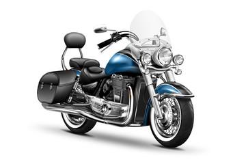 elegantes schweres Motorrad, freigestellt