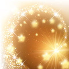 Golden sparkling background.
