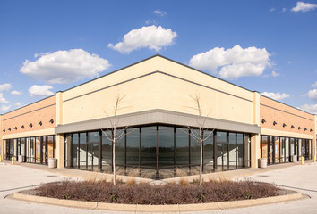 New Commercial, Retail and Office building Space available for sale or lease in mixed use Storefront and office building with awning  Wall mural