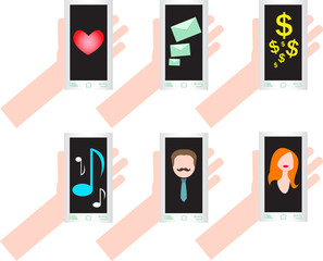Mobile telephone with different situation
