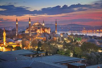 Istanbul. Image of Hagia Sophia in Istanbul, Turkey during sunrise.