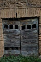 Vecchia porta di cantina,Italy
