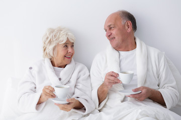 Mature marriage relaxing together