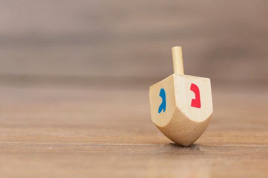 Dreidels for Hanukkah ,Made of wood . sevivon