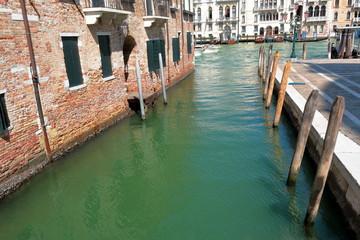 Canal Rio della Salute and Grand Canal in Venice, Italy