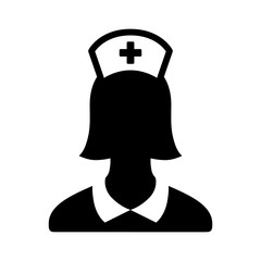 Nurse or medical assistant flat icon for apps and websites