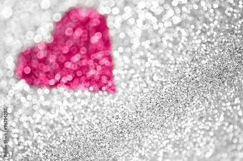 quotsilver glitter pink sparkle heart backgroundquot stock photo