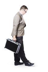 Businessman Travelling With Office Briefcase