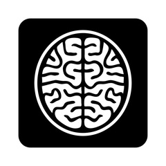MRI brain ct scan flat icon for medical apps and websites