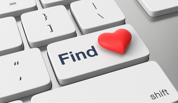 Find love text on keyboard button