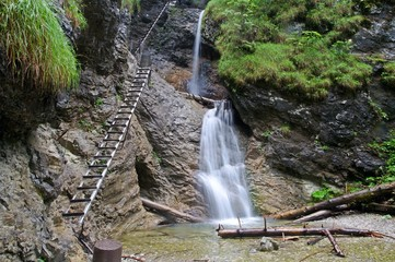 Obraz Gorge Sucha Bela in the Slovensky raj National Park, northern Slovakia - fototapety do salonu
