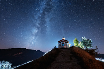 Night over Rodopi Mountain