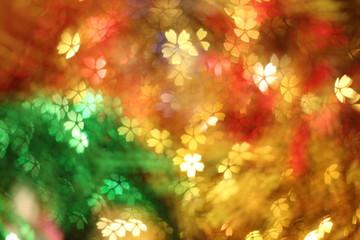 Colorful of Christmas background, light season