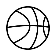 Basketball line art icon for sports apps and websites