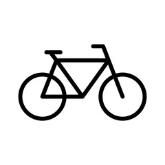Bicycle fitness line art icon for apps and websites