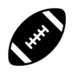 American gridiron football flat icon for apps and websites