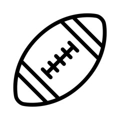 American gridiron football line art icon for apps and websites
