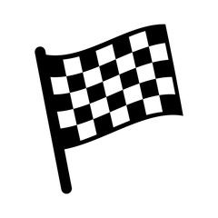 checkered (chequered) flag icon for sports websites
