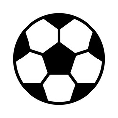 Soccer (football) flat icon for sports apps and websites