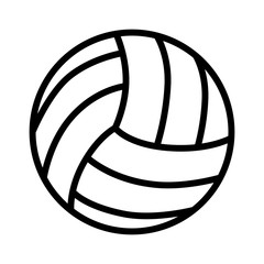 Volleyball ball line art icon for sports apps and websites
