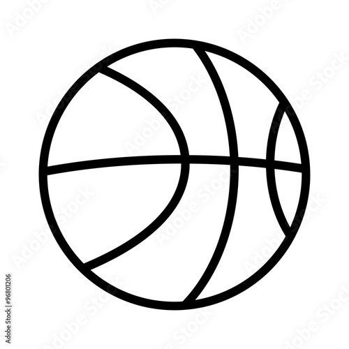 Line Art Basketball : Quot basketball line art icon for sports apps and websites
