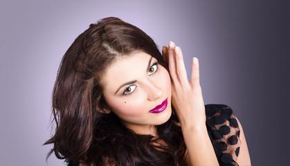 Cosmetic beauty portrait. Perfect makeup woman