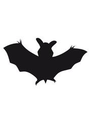 silhouette bat halloween horror design outline shape symbol